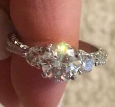 Cubic Zirconia Ring Size Sz 9 Rings Cluster Ring of Stones Large Wedding Band