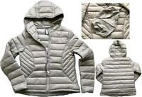 NEXT Ladies SILVER BEIGE Packaway Padded Puffa Duck Down Coat Jacket £50 6 - 26