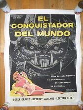 It Conquered The World ORIG 1950's 1-SHEET LINENBACKED Cuban/Mexican POSTER