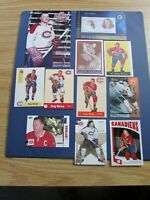 DOUG HARVEY (20 diff) Cards & Items + postcard Montreal Canadiens Parkhurst