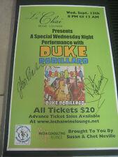 AUTOGRAPHED POSTER OF DUKE ROBILLARD  PLUS ALBUM!!!