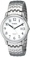 Timex T2P294 Men's Silver-Tone Analog Watch Stainless Steel Expansion Band