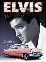 Elvis / Cadillac small steel sign 200mm x 150mm (og)