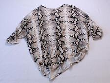 Jodifl Women's Snake Skin Print Dolman Sleeve Tunic Top JM4 Beige Small NWT