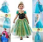 FROZEN Costume Elsa Dress Up Gown Queen Princess Birthday Party Dress Size:2-10