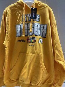 Kyle Busch # 18 Nascar M &M Pullover Hoodie Men's XL