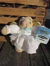 GUARDIAN BUNNY Angel Rabbit gold wings - SQUEEZE Friends - TALKING