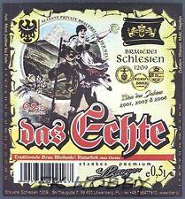 Poland Brewery Lwówek Das Echte Beer Label Bieretikett Cerveza ls136.2