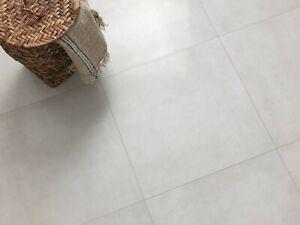 SAMPLE £20.89m2 Light Grey Lappato Porcelain Tiles 60X60 wall-floor non slip