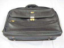 Corto Leather Briefcase / Laptop Case - Black