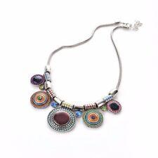Bohemia Crystal Women Choker Statement Tribal Collar Bib Necklace Chain Pendant
