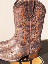 Ariat Dandy Cowboy Boots Sassy Brown 10007964  Snip Toe w/ Inlay sz 5.5 B NIB