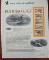 Fishing Flies 1991 Issue #2549av Commemorative Cachet Sheet 2012 Harris CV $22