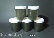 contenitori vasetti plastica 180ml x5 barattoli AMBRA spezie cosmetica creme oli