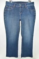 Jag Jeans Curvy Fit Womens Bootcut Boot Cut Stretch Size 16 W Blue Meas. 36x30.5