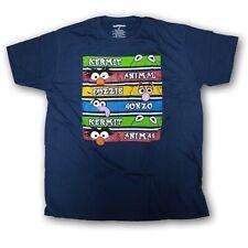 "The Muppets Men's Navy Blue ""Kermit,Animal,Fozzie,Gonzo""Short Sleeve T-shirt"