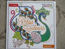 RELAX WITH COLOURS COLOUR THERAPY ANIMALS COLOURING BOOK -2nd EDITION -BRAND NEW