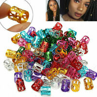 50pcs/set Braid Hair Beads 8mm Hole Dreadlocks Beads Rings For Hair Extensions