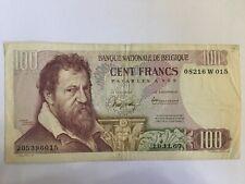 Belgium 100 francs 1972 Pick 134a  Ref W015