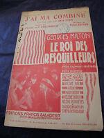 Partitura J'Ai Ma Combinado Georges Milton 1930 Music Sheet