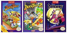 RGC Huge Poster- Duck Tales 1 2 Darkwing Duck Posters Nintendo NES - NESSET2