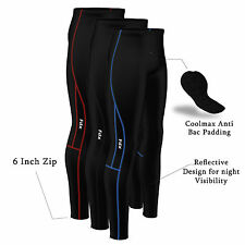 FDX Mens Compression Cycling Tights Coolmax® Padded Cycle Leggings Long Pants
