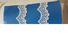 WHOLESALE roll 200 yards white Double Scalloped Narrow EDGE Lace Trim 1 ""