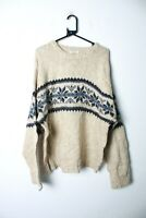 Vintage St Johns Bay Mens Nordic Fair Isle Wool Knit Jumper - 2xl (L-WW1)