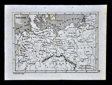 1835 Levasseur Map - Prussia Germany Poland Munster Hamburg Berlin Warsaw Danzig