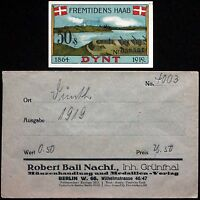 "DÜNTH 1919 ""Howitzers"" in RARE Robert Ball Envelope! German Notgeld Dynt Denmark"