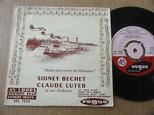 "DISQUE 45T DE SIDNEY BECHET & CLAUDE LUTER  "" OL' MAN RIVER """