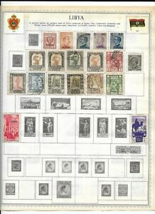 Libya 4 Pages Unpicked Stamps