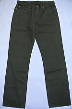 NEW POLO RALPH LAUREN GREEN STRAIGHT FIT FIVE POCKET RL CHINO JEANS PANTS 30-30
