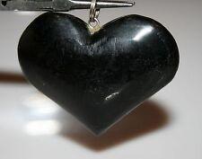Black GEMSTONE HEART PENDANT   24gr 45mm X 40mm 12517G