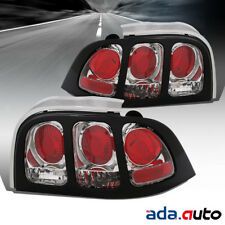 1994-1998 Ford Mustang/GT [Factory Style] Chrome Tail Lights Lamps Pair