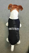 Parisian Pet Dog T-Shirt Security Black Sizes Cotton Free Shipping Embroidered