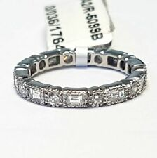 RRP £2500 - F/VS 1.00 ct Round & Baguette Diamond Full Eternity Ring in Platinum