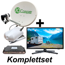 JoCamper SAT 60cm  inkl. TV 19 Zoll Vollautomatische Satanlage Komplettset