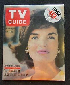TV Guide 1962 Retro Classic Reissue The World of Jacqueline Kennedy New & Sealed