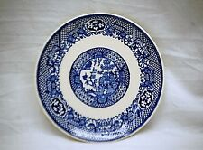 """Old Vintage Blue Willow Pattern by SCIO 6"""" Bread & Butter Plate Coupe Shape USA"""