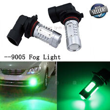 2X LED FOG LIGHT 9005 9140 HB3 7.5W Green Replacement Bulb DRL Daytime Lights Y1