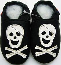 soft sole shoes minishoezoo skeleton black 4-5y US 12-13 chaussons bebe