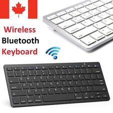 Slim Bluetooth Wireless Keyboard for PC Windows Laptop Apple Mac iPad Tablet