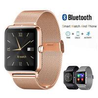 Smartwatch Uhr Edelstahl Bluetooth Smartphone Armband Uhr Gear Handy Smartwatch