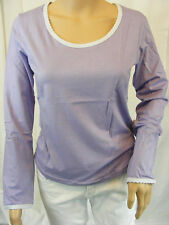 ★ PREGO ★ S  ~ flieder lila ~ Tolles Shirt T-Shirt langarm ~ Longsleeve ~ NEU