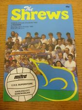 22/10/1983 Shrewsbury Town v Fulham  . Item appears to be in good condition unle