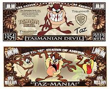 Le DIABLE DE TASMANIE BILLET MILLION DOLLAR ! Série Cartoon TAZ Tasmanian Devil