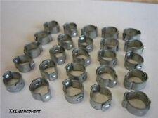 """Crimp Type Hose Clamps Zinc 7/16"""" Nominal size (25)"""