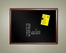 Handsome 24 X 18 Framed Magnetic Black Chalk Board Dark Frame Blackboard