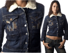 $390 Citizens Of Humanity Coh Denim Fur Lined Jacket 2 / Xs